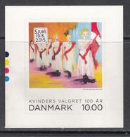 2015 Denmark Women Suffragettes Complete Set Of 1 MNH @ BELOW FACE VALUE - Unused Stamps