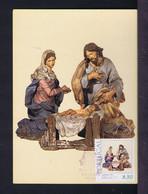 "Mc848 PORTUGAL Nativity Painted ""barro"" From Portuguese School  Sec.XVIII In Museum Nat. Old Art - Lisboa Maximum Card - Musei"