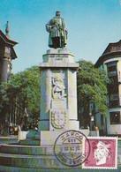 Portugal & Maximum Card, Portuguese Navigators, Statue Of Gonçalves Zarco, Funchal 1990 (196) - Monumenti