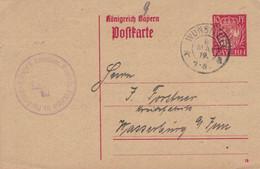 Bayern Postkarte Paul Petzoldt Drogerie Wunsiedel 1919 > Wasserburg Inn - Stamped Stationery