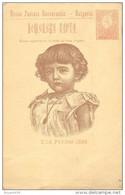 BULGARIE -  ENTIER POSTAL - CARTE ILLUSTREE - 2/14 FEVRIER 1896 - Dos Vierge - Postcards