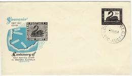 Australia 1954 First Stamp In Western Australia FDC - Primo Giorno D'emissione (FDC)