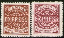 SAMOA 2 Sellos Nuevos REIMPRESIÓN PRIMERA EMISIÓN Años 1877-82 - Samoa