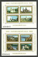 ROMANIA 1982 INTER-EUROPEAN CULTURAL CO-OPERATION VIEWS ARCHITECTURE SHEETS MNH - Nuovi