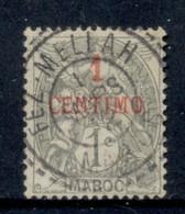 French Morocco 1902-10 Blanc 1c On 1c Grey FU - Usados
