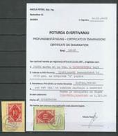 SHS - Chainbreakers 1920 ☀ 10 Vin On The Cut - Certificate ☀ Žirovnica Kranjsko - Usati