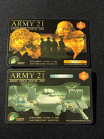 Mint Singapore Army Open House 2002 Commemorative Card, Set Of 2 Mint Cards - Singapore