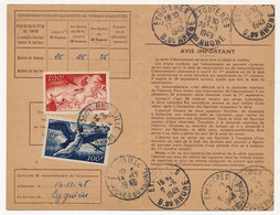 FRANCE - Carte D'abonnement Aux Timbres-poste Spéciaux Français, Affr 100F + 200F Allégories - Obl MARSEILLE / EYGUIERES - 1927-1959 Brieven & Documenten