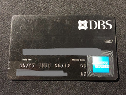 Singapore American Express Credit Bank Card, Set Of 1 Used & Expired Card - Singapore