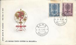 Fdc Filagrano: MALARIA (1962); No Viaggiata; AF_Caserta - F.D.C.