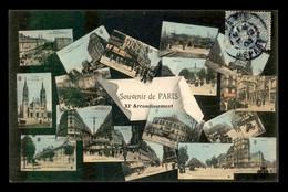 75 - PARIS - 11EME - TOUT PARIS - SOUVENIR DU XIE ARRONDISSEMENT - CARTE ANCIENNE COLORISEE - EDITEUR FLEURY - District 11