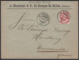 MOTIV SCHOKOLADE Chocolat  , 1902-04-02 , MAESTRANI ST. GEORGEN - ST. GALLEN - Covers & Documents