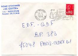 SAVOIE / HAUTE Dépt N° 74 = MEGEVE 1976 =  FLAMME Codée à DROITE = SECAP Illustrée ' ETE - HIVER ' - Mechanical Postmarks (Advertisement)