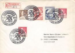 GREENLAND - REGISTERED MAIL 1972 NARSSARSSUAQ > LICHTENAU/DE / PR119 - Briefe U. Dokumente