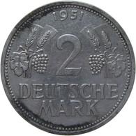 LaZooRo: Germany 2 Mark 1951 F XF / UNC - 2 Mark