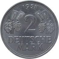 LaZooRo: Germany 2 Mark 1951 F UNC - 2 Mark