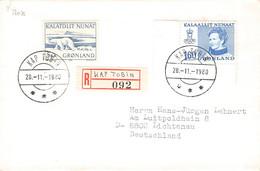 GREENLAND - REGISTERED LETTER 1980 KAP TOBIN > LICHTENAU/DE Mi #114, 96 / PR124 - Briefe U. Dokumente