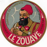 ETIQUETTE  DE FROMAGE    LE ZOUAVE CHARENTE CAMEMBERT - Cheese