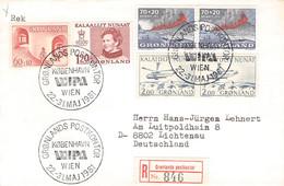 GREENLAND - REGISTERED LETTER 1981 WIPA WIEN > LICHTENAU/DE Mi #100, 107, 70, 86 / PR127 - Briefe U. Dokumente