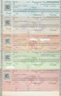 "GREECE, 6 Different ""SYNALLAGMATIKI"" (ΣΥΝΑΛΛΑΓΜΑΤΙΚΗ) - Revenue Stamps"