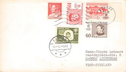 GREENLAND - LETTER 1982 DUNDAS > LICHTENAU/DE Mi #54, 82, 85, 101, 118 / PR 131 - Briefe U. Dokumente