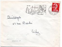 SAVOIE / HAUTE Dépt N° 74 = MEGEVE 1959 =  FLAMME Non Codée = SECAP Illustrée ' ETE - HIVER ' - Mechanical Postmarks (Advertisement)