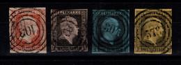 Allemagne - Prusse - YV 2 / 3 / 4 / 5 Obliteres , Tous TB , Pas Amincis , Cote 114 Euros - Prussia
