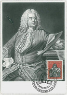 32329  - GERMANY DDR  - POSTAL HISTORY -- MAXIMUM CARD Music Handel 1959 - Maximumkarten (MC)