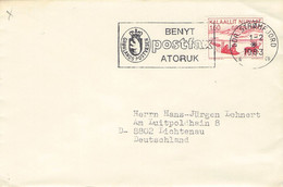 GREENLAND - LETTER 1983 SDR. STROMFJORD > LICHTENAU/DE Mi #118 / PR 133 - Briefe U. Dokumente