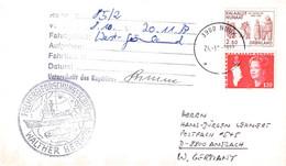 GREENLAND - LETTER 1987 NUUK > ANSBACH/DE Mi #121, 143  / PR 134 - Briefe U. Dokumente