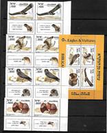 ISRAEL STAMPS, 1985 BIBLICAL BIRDS SET COMPLETE, Sc.#896-899a, PAIRS + S/S, MNH - Ungebraucht (mit Tabs)