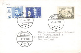 GREENLAND - FDC 1981 KANGATSIAQ > LICHTENAU/DE Mi #122, 125, 114  / PR 136 - Briefe U. Dokumente