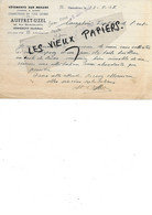 56 - Morbihan - HENNEBONT - Facture AUFFRET-UZEL - Vêtements Sur Mesure, Confections - 1947 - REF 196C - 1900 – 1949