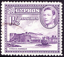 CYPRUS 1943 KGVI 1½p Violet SG155a Used - Cyprus (...-1960)