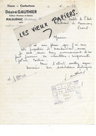 56 - Morbihan - MALGUENAC - Facture GAUTHIER - Tailleur, Tissus, Confections - 1948 - REF 196C - 1900 – 1949