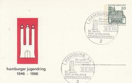 PP 36/11  Hamburger Jugendring 1946 - 1966,  Hamburg 36 - Privatpostkarten - Gebraucht