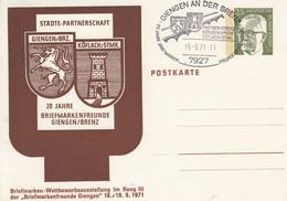 PP 45/2 Städte-Patznerschaft GIENGEN/GRZ - KÖFLACH/STMK - 20 Jahre Briefmarkenfreunde, Giengen/Brenz - Privatpostkarten - Gebraucht