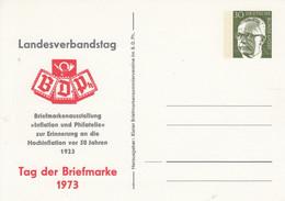 """PP 46/12a**  Tag Der Briefmarke 1973 - Landesverbandstag BDPh - Briefmarkenausstellung """"Inflation Und Philatelie - Privatpostkarten - Ungebraucht"""