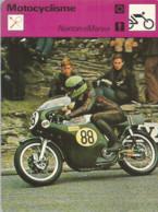AS / SPORT Ancienne IMAGE Carte De Collection 1976  /  MOTO CYCLISME   NORTON MANX Phillis 1961 - Moto