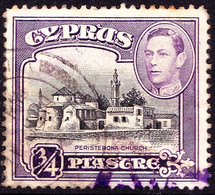 CYPRUS 1938 KGVI ¾p Black & Violet SG153 Used - Cyprus (...-1960)