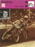AS / SPORT Ancienne IMAGE Carte De Collection 1976  /  SPEEDWAY Peter COLLINS 1976 - Moto
