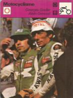 AS / SPORT Ancienne IMAGE Carte De Collection 1976  /  MOTOCYCLISME Moto Georges GODIER Alain GENOUD  BOL D'OR - Moto