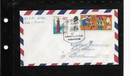 224) Busta Belege Brief Cover DDR 1° Volo Erstflug Interflug IF880 Berlino Tripoli Libia Berlin Tripolis Airport - Briefe U. Dokumente