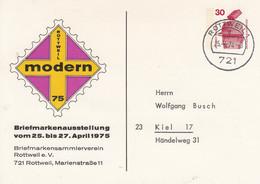 PP 68/21a  Rottweil Modern 75 - Briefmarkenausstellung Vom  25.bis 27.April 1975, Rottweil 1 - Privatpostkarten - Gebraucht