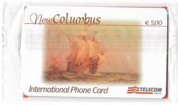 NUOVA- ITALIA-TELECOM NEW COLUMBUS -DA E. 5,00-SIGILLATA - Schede GSM, Prepagate & Ricariche