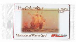 NUOVA- ITALIA-TELECOM INTERNATIONAL -NEW COLUMBUS-DA L.25.000 - Schede GSM, Prepagate & Ricariche