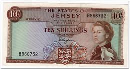 JERSEY,10 SHILLINGS,1963,P.7,XF+ - Jersey