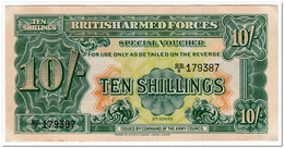 BRITISH ARMED FORCES,10 SHILLINGS,1948,P.M21a,XF - British Armed Forces & Special Vouchers