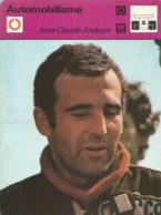 AS / SPORT Ancienne IMAGE Carte De Collection 1978  /  AUTOMOBILISME RALLYE  Jean-Claude ANDRUET Course Auto - Altri