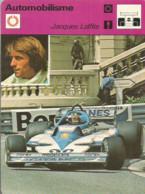 AS / SPORT Ancienne IMAGE Carte De Collection 1978  /  AUTOMOBILISME RALLYE  JACQUES LAFFITTE Formule 1 Course Auto - Altri